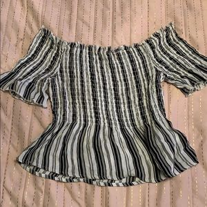 Kendall and Kylie off the shoulder top